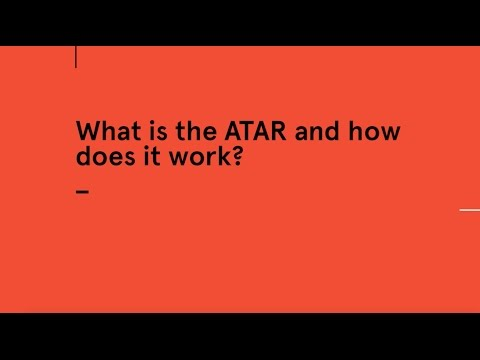 How is the ATAR calculated?