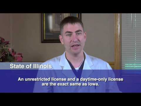 Vision Requirements for a Driver's License in IA and IL