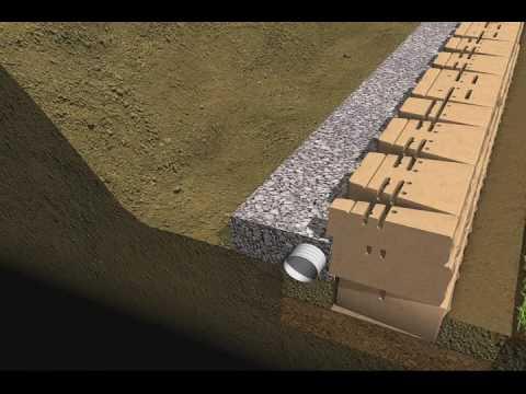7 - Drainage & Backfill - Mosaic Retaining Wall Installation
