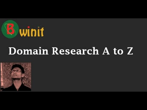 Domain research A to Z In Bangla