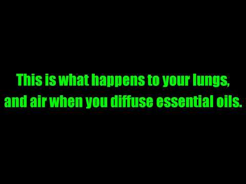 This is what happens to your lungs, lungs, and air when you diffuse essential oils