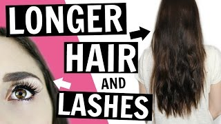 GET LONGER HAIR & EYELASHES | Beauty Uses for Castor Oil -  [ But First, Coffee ]