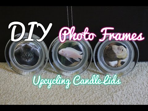 Easy DIY Upcycling Project: How To Make Photo Frames/Coasters From Candle Lids!