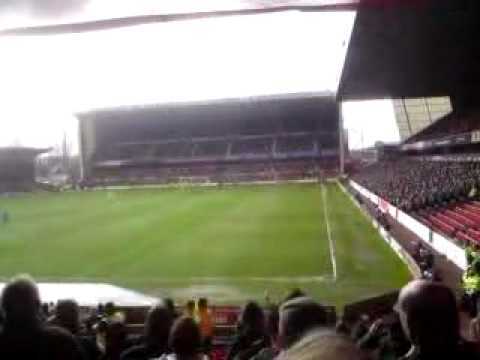 Cardiff fans singing at nottingham forest