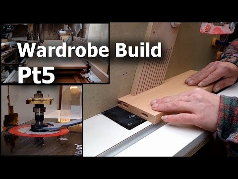 Wardrobe build pt5 - Cutting the panels & grooves, then gluing the doors together
