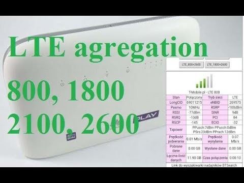 How to agregate LTE Bands, 800, 1800, 2100, 2600 - boost broadband speed