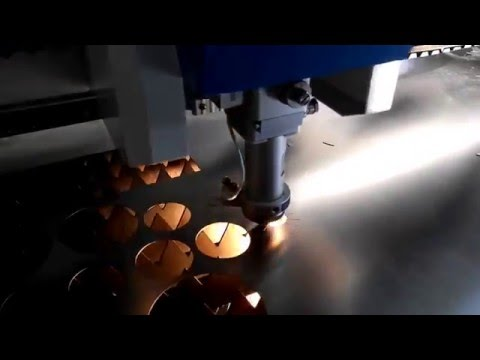 fiber laser cutting machine for cutting round hole on stainless steel in high speed