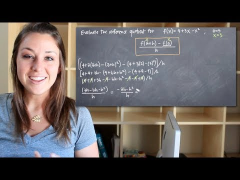 How to calculate the difference quotient (KristaKingMath)