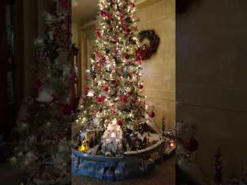 Christmas village under the tree 2016