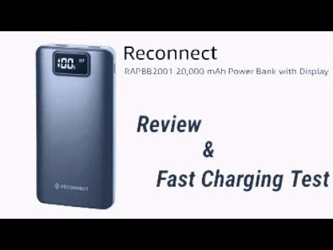 Reconnect 20000 mah powerbank Fast Charging Test and Review