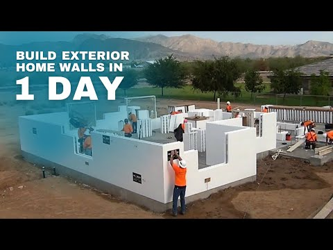ICF Specialist Build a Home in 1 Day