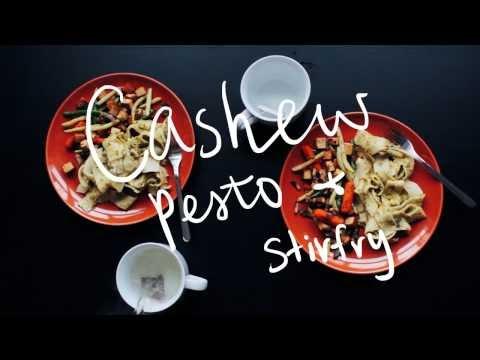 Cashew Pesto and Stirfry 🍝 #cookingwithPFC 😛 Vegan Recipe