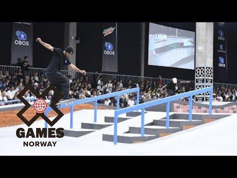 Kelvin Hoefler wins Men's Skateboard Street gold   X Games Norway 2018
