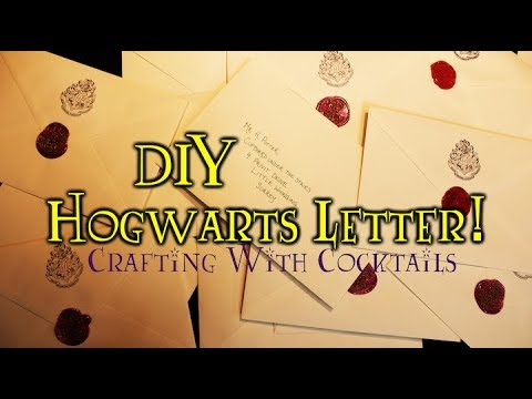 DIY Hogwarts Letter/Invitations! Crafting With Cocktails (4.13)