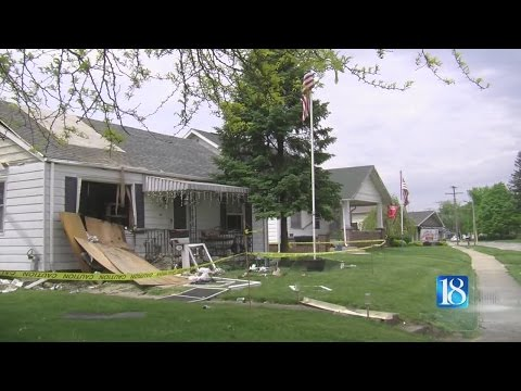 A natural gas leak causes a Monticello home to explode