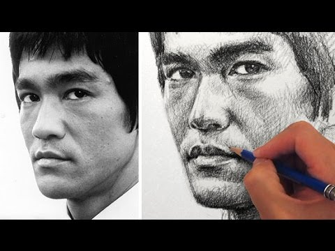 How to Draw a Portrait of Bruce Lee
