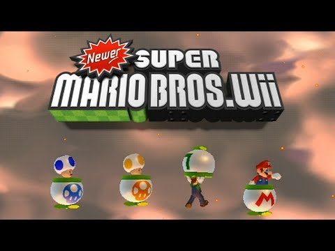 Newer Super Mario Bros Wii - All Title Screens