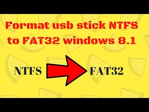 Format usb stick NTFS to FAT32 windows 8.1