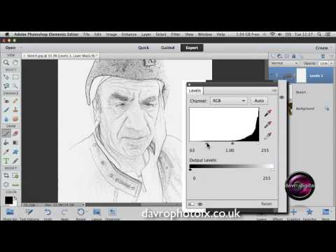 Creating a realistic Sketch effect in Elements and Photoshop
