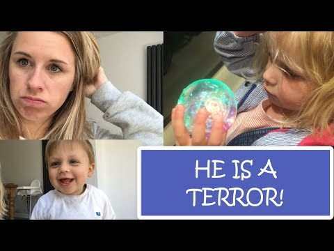 HE IS A TERROR | DAY IN THE LIFE WITH 2 KIDS