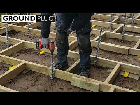 No-dig, No-pour deck footings from GroundPlug® Easy Mounting System™