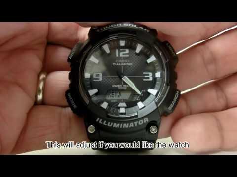AQ-S810W - Adjusting Watch Settings Including Daylight Saving Time
