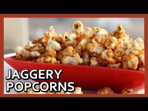 Jaggery Flavoured Popcorn | Easy Homemade Popcorns Recipe | Healthy Kadai