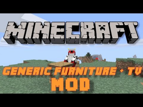 Minecraft: Generic Furniture + TV Mod (Craft: Chairs, Benches, Tables, TVs, etc.)