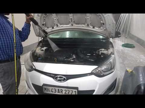 Car Engine compartment wash with Hot Water . Look like a new Engine and