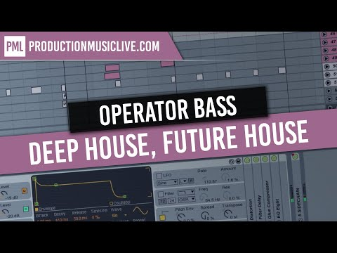 How to Make a Deep Bass in Ableton - FM Bass Tutorial with Operator [Deep House, Pop, Future House]