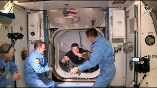 SpaceX Demo-2 crew opens hatch and enters space station