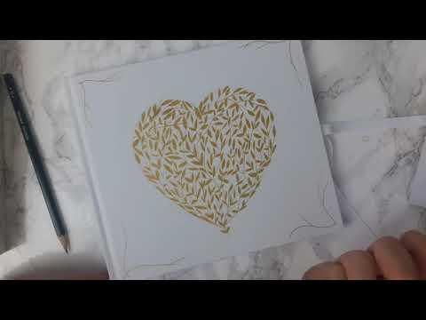 Draw a heart tree card