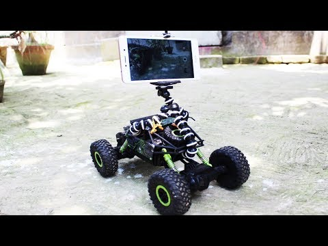 Video shooting using cheap rc car & mobile camera || my village