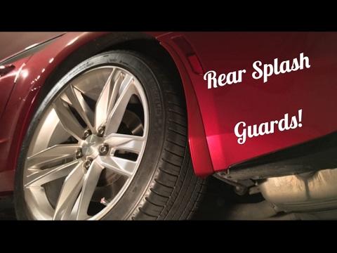 2016 2017 2018 Camaro Rear Splash Guards Install Guide