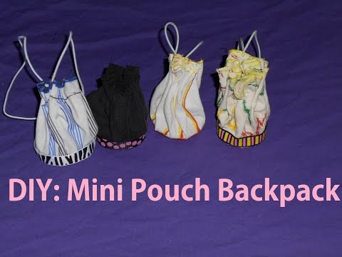 How to Make: a Mini Pouch Backpack (EASY) Fabric Craft!!