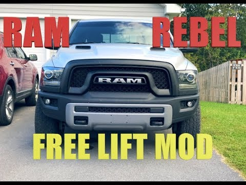 Ram Rebel Off-Road Suspension Lock! FREE & EASY 15 Second Mod!!