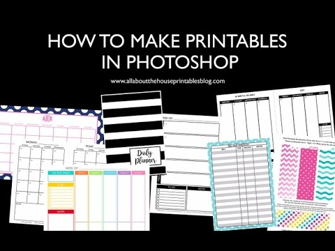 How to make planner printables in photoshop (step by step tutorials)