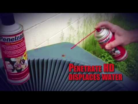 Penetrate HD HVAC Lubricant Spray -  Frees Stuck Fan Blades, Blower Shafts, Pulleys & Seized Metal
