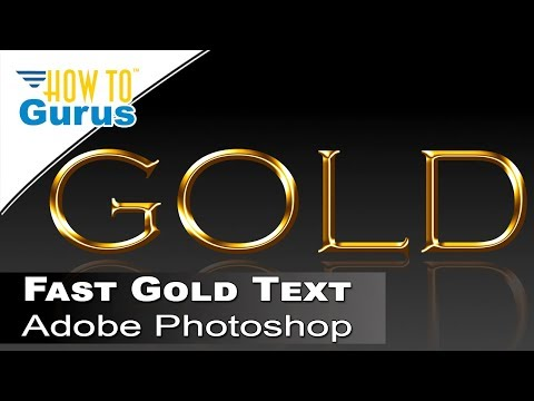 How to Make a Photoshop Fast Metallic Gold Text Effect : A Photoshop CC 2018 CS6 CS5 Tutorial