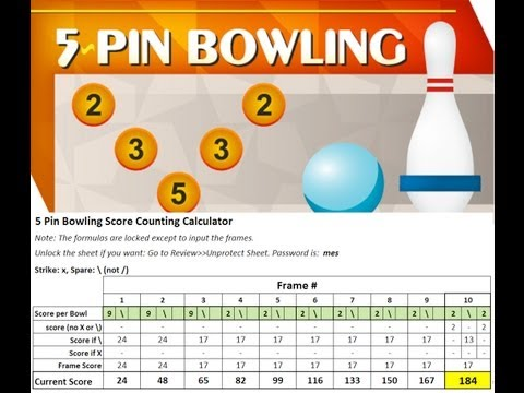 5 Pin Bowling - Scoring and Free Calculator to Download
