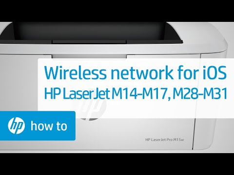 How To Set Up an HP LaserJet M14-M17 or M28-M31 Printer on a Wireless Network from an iPhone or iPad