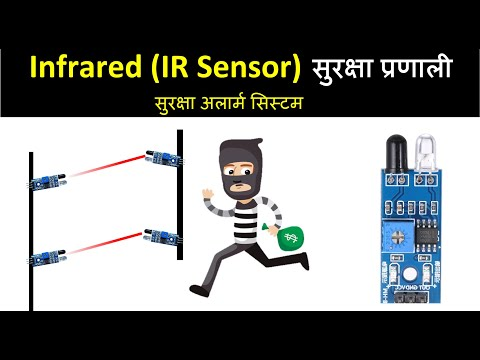 (Infrared sensor (IR)project) with automatic room light controller and security alarm.
