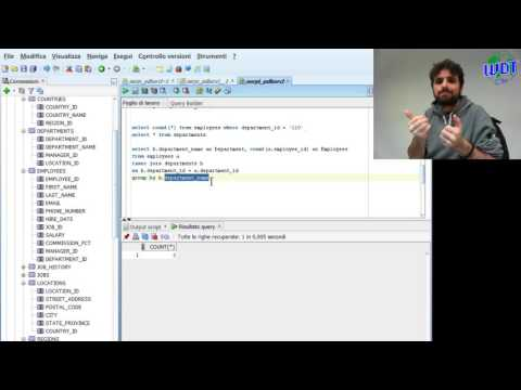 ORACLE ADVANCED - COUNT AND GROUP BY - INTERNATIONAL SIGN LANGUAGE
