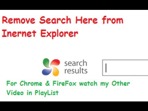 Remove Search Here Toolbar from Internet Explorer