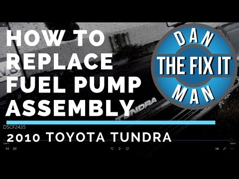 2010 TOYOTA TUNDRA - REPLACING THE FUEL PUMP ASSEMBLY