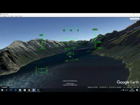 Flying over Sunnmøre and into Hjørundfjorden with Google Earth Flight Simulator