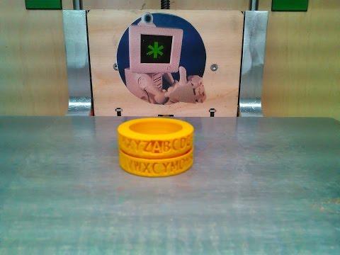 3D Printed Decoder Ring Ring Time Lapse Print