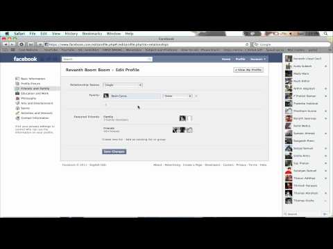 How to add relationship on facebook?