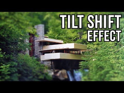 Photoshop Tutorial: TILT-SHIFT Effect. How to Make a Photo look like a MINIATURE TOY MODEL.