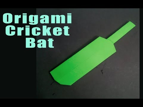 How to make a Paper Cricket Bat - Origami for Beginners - Creative Paper Crafts